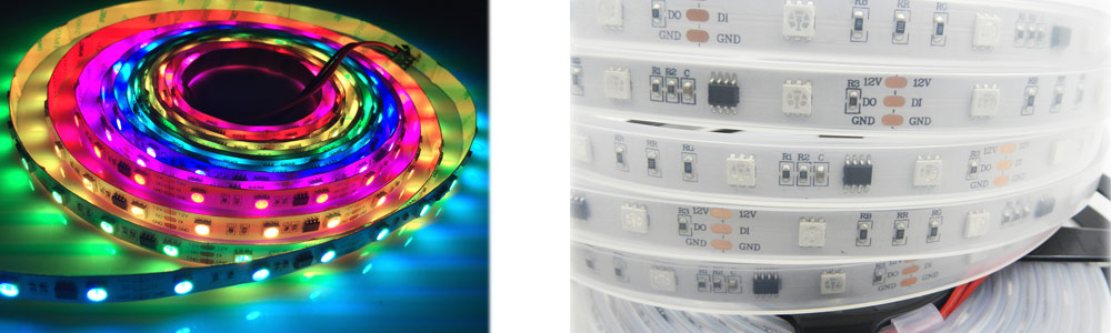 programmable digital rgb full color 12v 60 leds m ws2811 led strip witoptech. Black Bedroom Furniture Sets. Home Design Ideas