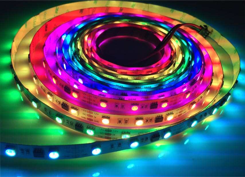 Programmable Digital Rgb Full Color 12v 60 Leds M Ws2811