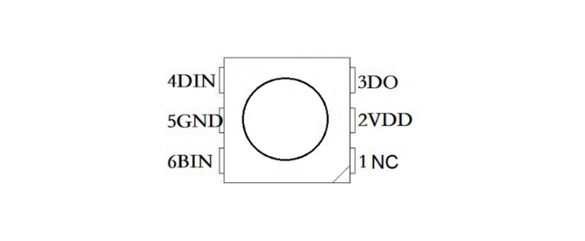 smd 5050 ws2815 12v addressable individually rgb led chip