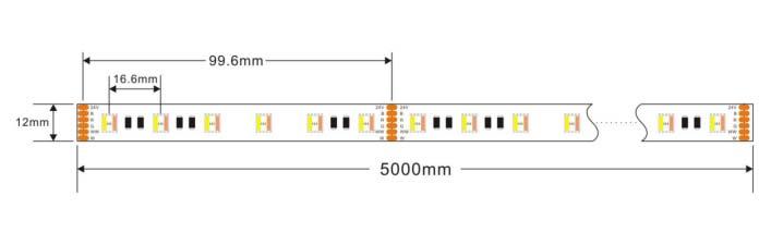 Rgb Cct 12v 30led 5 Color In One Led 5050 Rgbw Led Strip