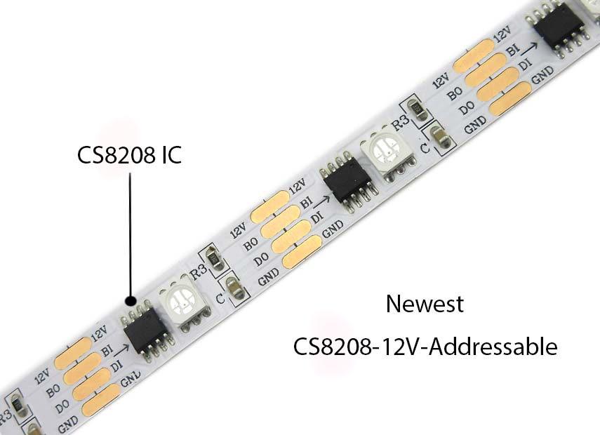 newest cs8208 digital rgb 12v individually addressable rgb led rh witop tech com